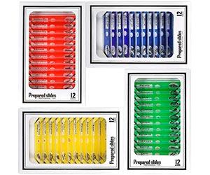 Niños Microscopio Preparado Diapositivas, Bysameyee Plástico 48 Piezas