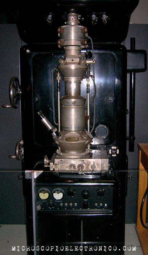 Primer microscopio electrónico de la historia Ernst Ruska